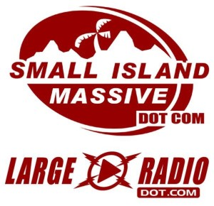large radio small island massive logos
