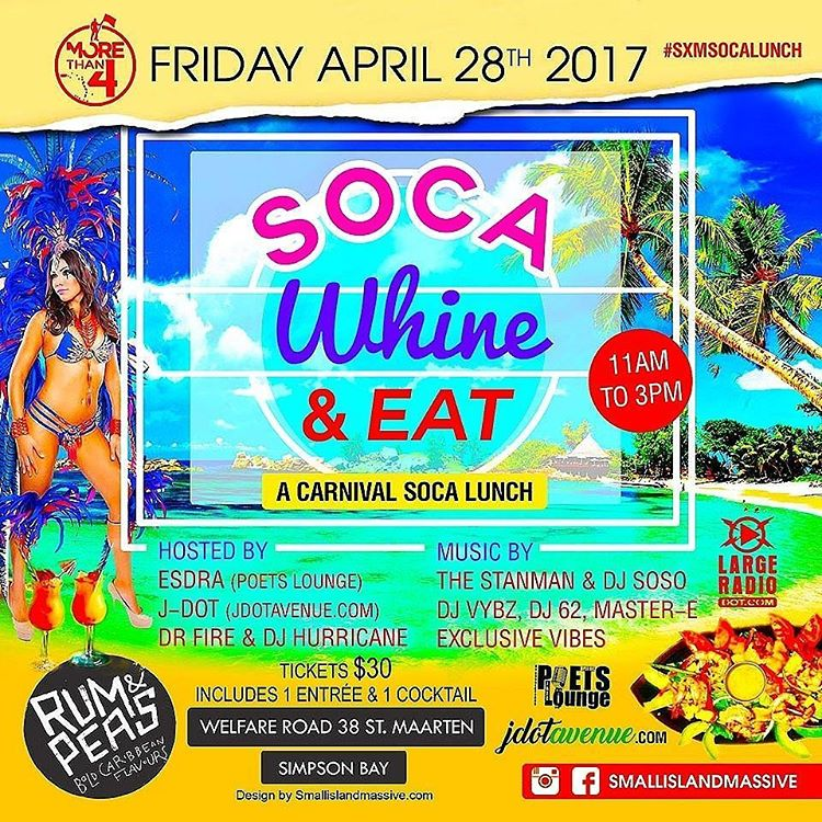Stmaarten carnival day fete today 11am until 3pm sxmsocalunch
