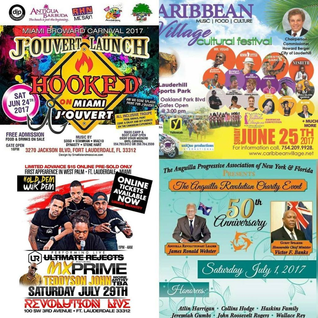 Miami and fort lauderdale events June and July 2017 morethan4hellip