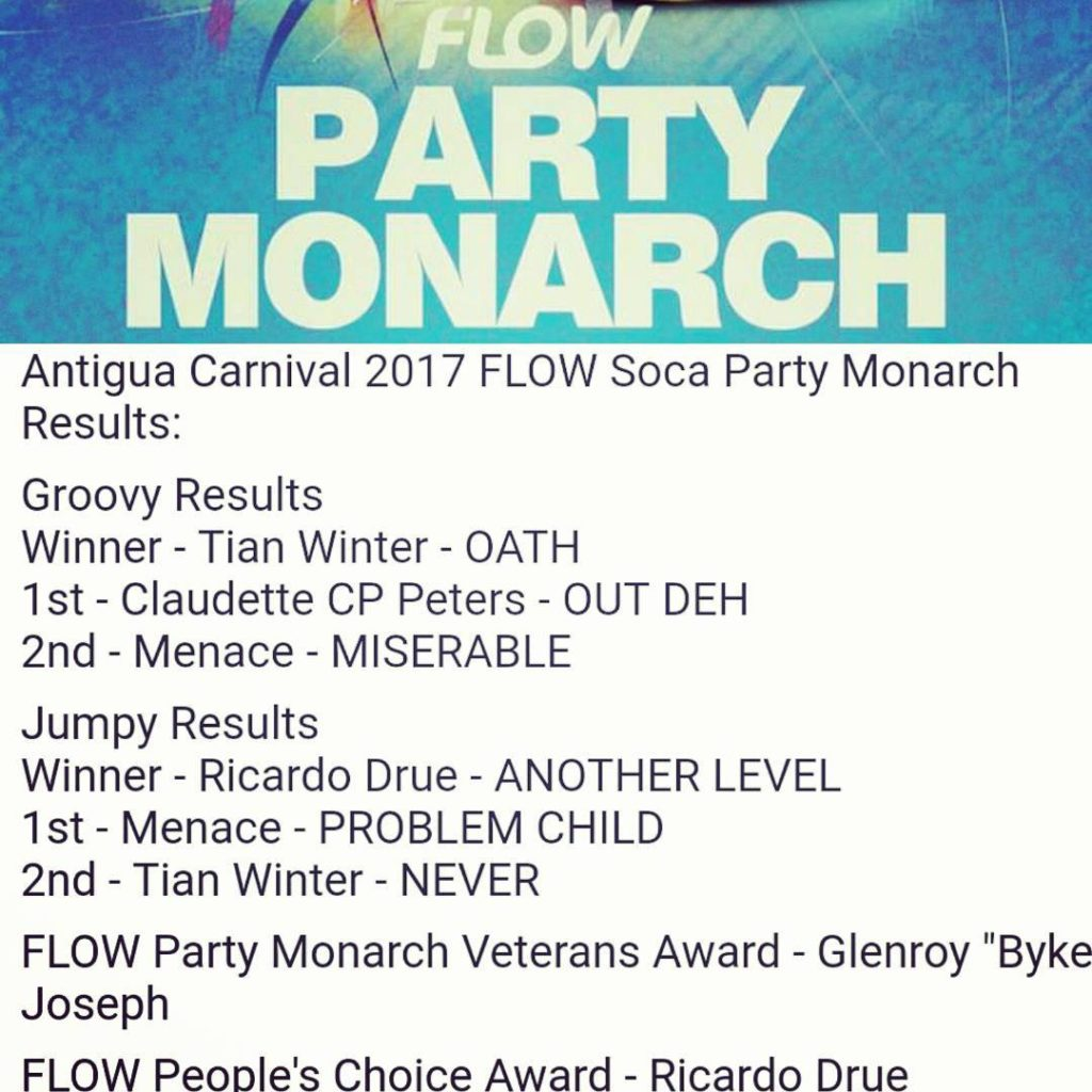 Antigua carnival soca monarch results 2017 morethan4 antiguacarnival antigua socamonarchhellip