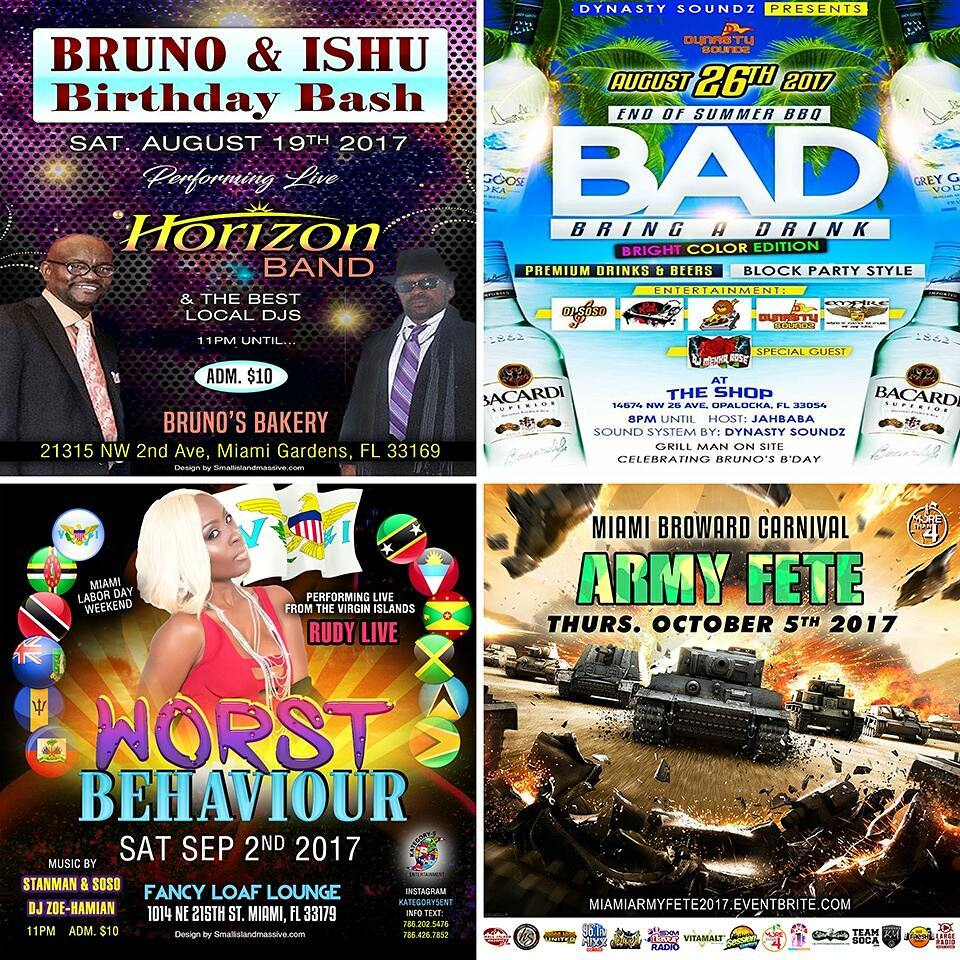 South Florida events miami fortlauderdale soca