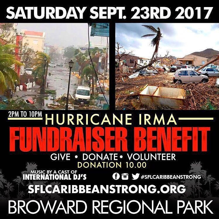 Hurricane Relief Benefit Event at Broward Regional Park Saturday Septemberhellip