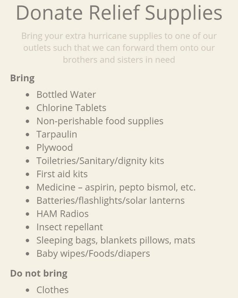 Ideas for donation supplies No clothing wwwsflcaribbeanstrongcom you can alsohellip