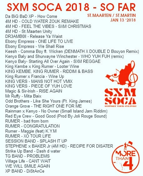 Sxm soca 2018 so far Stmaarten  StMartin Jan 13hellip