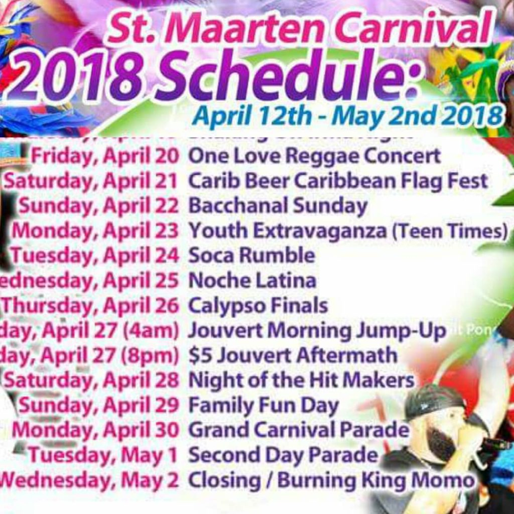We going to be in stmaarten for carnival 2018 Aprilhellip