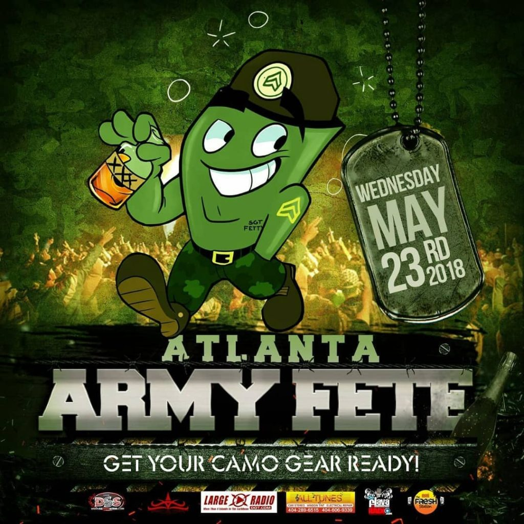 ATLANTA ARMY FETE 2018 WEDS MAY 23RD ATLANTA CARNIVAL WEEKENDhellip
