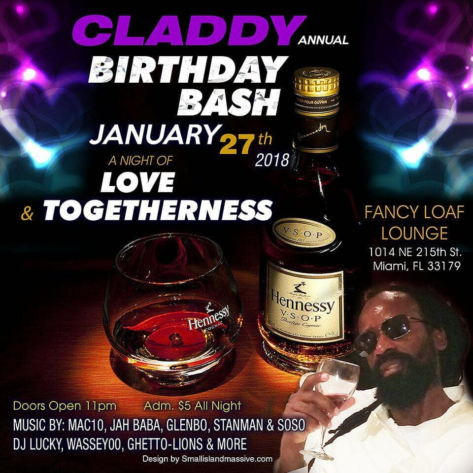 January 27th claddy annual birthday bash at fancy loaf loungehellip