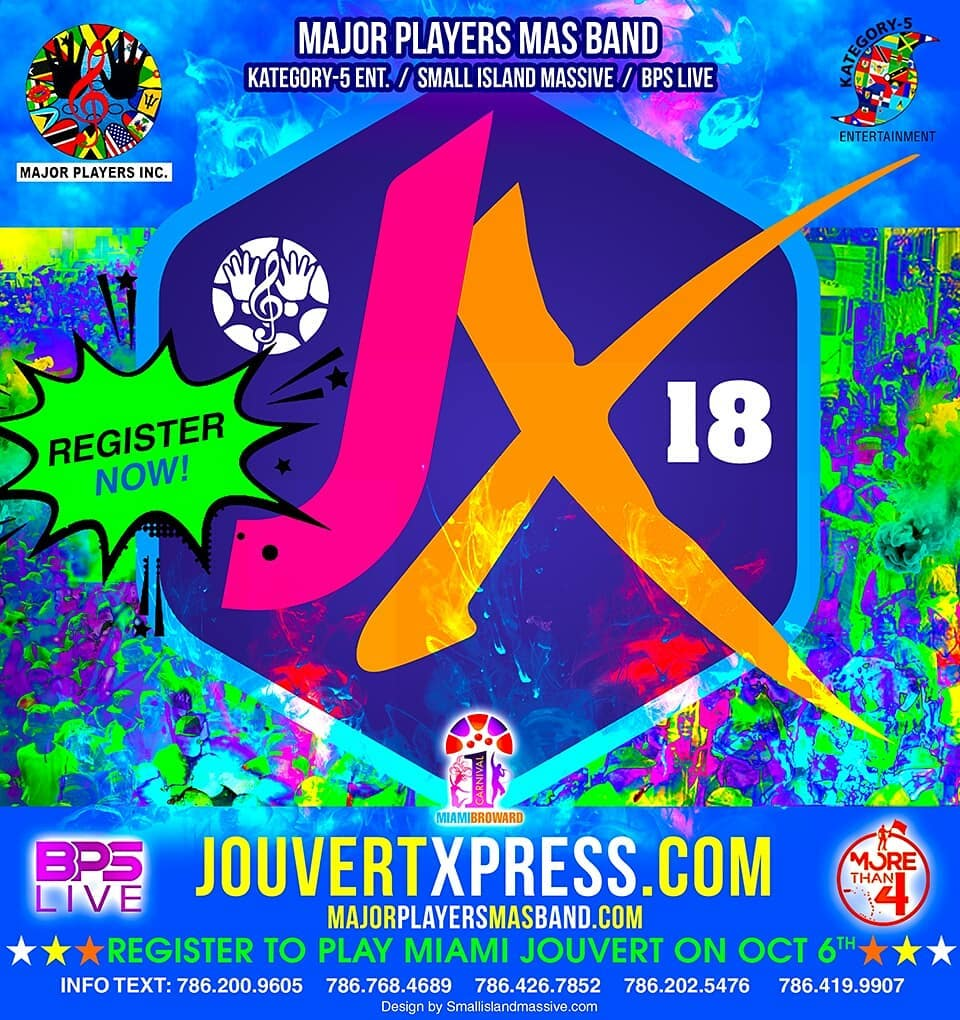 Major Players Mas Band Inc Presents JOUVERT XPRESS For Miamihellip