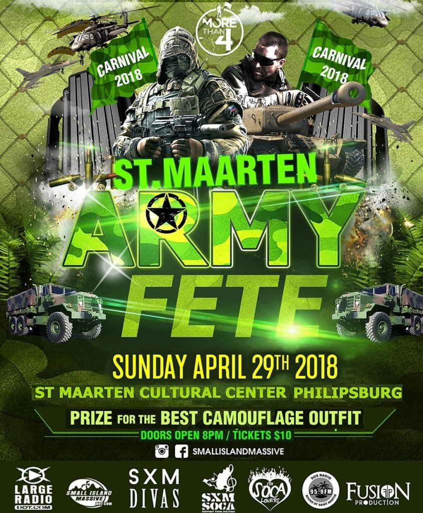 StMaarten Carnival ARMY FETE 2018 get your camouflage outfit ready!!hellip