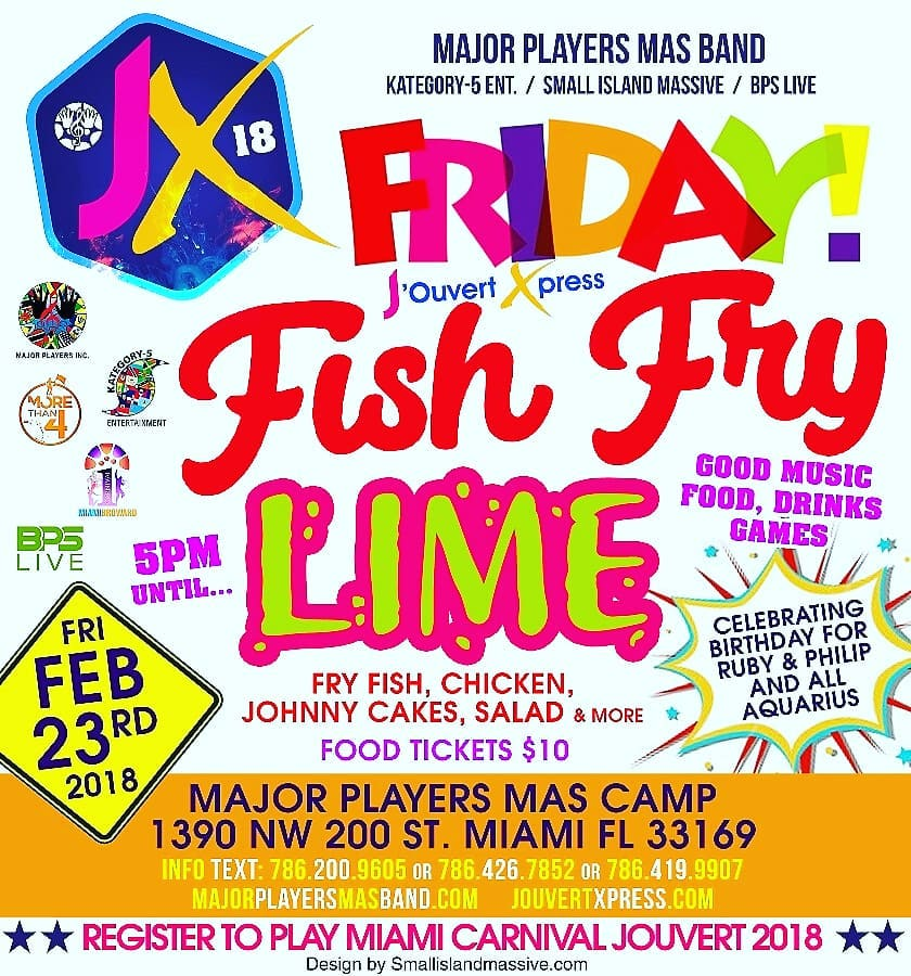 This Friday Jouvert Xpress presents Friday Fish Fry Lime onhellip