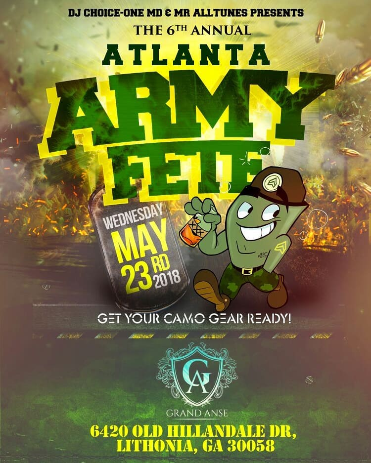 ATLANTAARMYFETE LOOK OUT FOR ATLANTA ARMY FETE 2018d WEDS MAYhellip